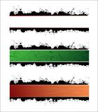 Horizontal banners. Three horizontal banners with different color and texture variations Stock Photo