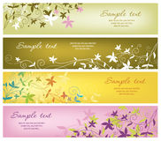 Horizontal banners. With floral elements Stock Image