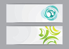 Horizontal banners Stock Photography