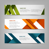 Horizontal banners with abstract colored stripes Royalty Free Stock Images