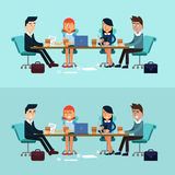 Horizontal Banners Business Meeting, Teamwork Stock Image