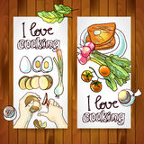 Horizontal banners  cooking Royalty Free Stock Images