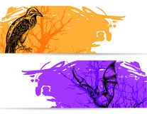 Horizontal banners for Halloween Stock Photography