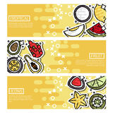 Horizontal Banners about indian tropical fruit Stock Images
