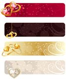For horizontal  banners with jewels Stock Image
