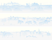 Horizontal banners of misty valley. Stock Image
