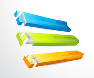 3 horizontal banners with numbers. And place for own text Stock Photos