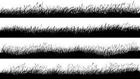 Free Horizontal Banners Of Meadow Silhouettes With Grass. Royalty Free Stock Images - 110616689
