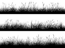Free Horizontal Banners Of Meadow Silhouettes With High Grass. Stock Photos - 112744273