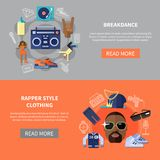 Rapper Style Clothing Breakdance Banners Stock Image