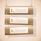 Horizontal banners on the ropes Royalty Free Stock Photos