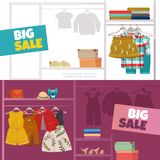Children Clothes Banners Royalty Free Stock Images