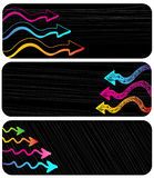 Horizontal Banners Set: Cool Arrows Stock Images