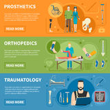 Horizontal Banners Of Traumatology Orthopedics Stock Images