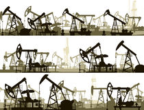 Horizontal banners with units for oil industry. Stock Images