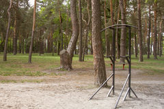 A horizontal bar in the park Royalty Free Stock Image