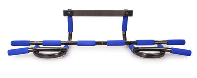 Horizontal bar for sporting activities (Clipping path) Royalty Free Stock Image