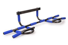 Horizontal bar for sporting activities (Clipping path) Stock Photography