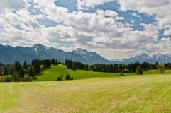 Horizontal bavarois d'Alpes Photographie stock