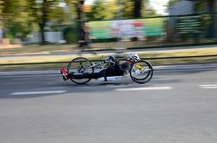 Horizontal Bike Race in Poland Stock Photography