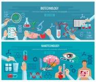 Horizontal  Biotechnology And Nanotechnology Stock Photo