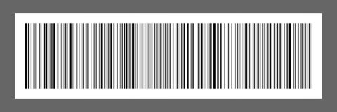 horizontal black bar code on white paper sticker for pattern and royalty free illustration