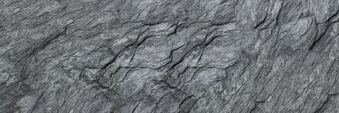 horizontal black stone texture for pattern and background Royalty Free Stock Image