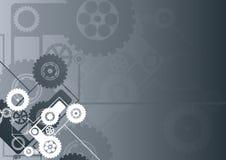 Horizontal black technological background stock illustration