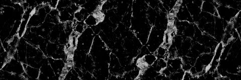 Horizontal black and white marble texture for pattern and backgr Royalty Free Stock Photography