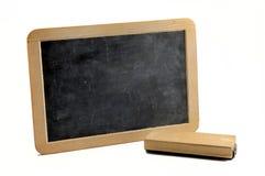 Horizontal blackboard. Simple horizontal blackboard on white background stock photos