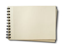 Horizontal blank sketch book on white royalty free stock images
