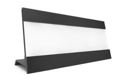 Horizontal Blank Table Card Tag. 3d Rendering. Horizontal Blank Table Card Tag on a white background. 3d Rendering Royalty Free Stock Image