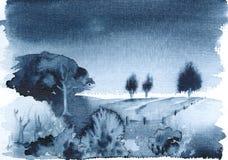 Horizontal bleu Images libres de droits