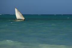 Horizontal bleu de mer Images libres de droits