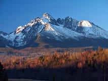 Horizontal bleu de montagnes Photos libres de droits