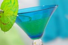Horizontal bleu-vert Image libre de droits