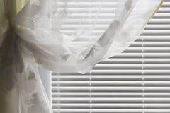 Horizontal blinds curtain Royalty Free Stock Photo
