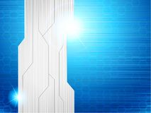 Horizontal blue & brushed steel futuristic banner Royalty Free Stock Photography