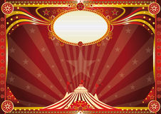 Horizontal Blue circus background stock photos