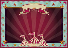 Horizontal blue and purple sunbeams circus. Horizontal circus background for a poster. Ideal for your publicity Stock Photo