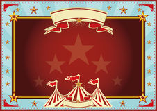 Horizontal blue and red sunbeams circus. Horizontal circus background for a poster. Ideal for your publicity Royalty Free Stock Photography