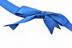 Horizontal blue ribbon Stock Photography