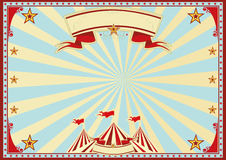 Horizontal blue sunbeams circus Royalty Free Stock Photography