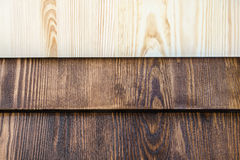 Horizontal boards of wood in three colors Stock Photo