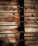 Horizontal boards on a wooden wall Royalty Free Stock Photos