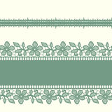 Horizontal Border. Lace Seamless Pattern. Royalty Free Stock Photography
