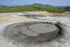 Horizontal boueux VIII de volcans Images libres de droits