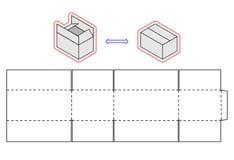 Horizontal box template. Vector packing. Simple Cardboard cut Stock Photo