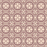 Horizontal brown and beige floral pattern Royalty Free Stock Photos