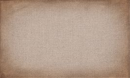 Horizontal brown canvas to use as grunge background or texture Royalty Free Stock Photos